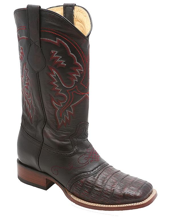 Los Altos Caiman Belly Saddle Cowboy Western Boots