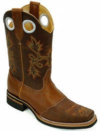 Los Altos Saddle Rodeo Brown Boots