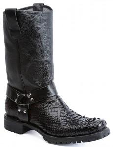 Black Python Boots