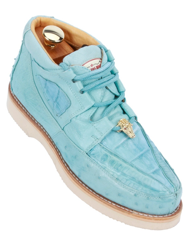 Sky Blue Exotic Skin Shoes