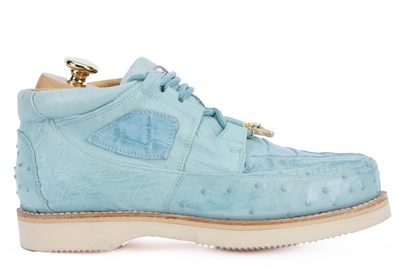Exotic Skin Shoes Sky Blue
