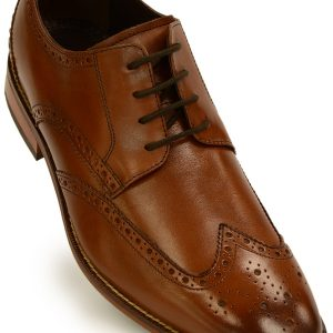 Florsheim Tan Leather Wing Tip Dress Up Lace Up Oxford Shoe