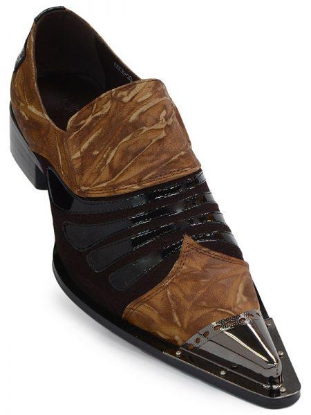 Zota Leather Metal Tip Slip on Dress Party Pointy Toe Shoe