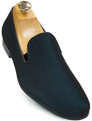 Mens Giorgio Brutini Teal Blue Black Mesh Loafer Shoe