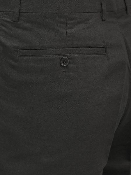 Lanzzino Mens Black Linen Two Piece Short Sleeve Walking Suit