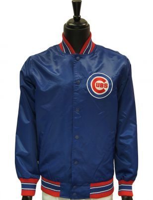 Official Major League Baseball Chicago Cubs Full Snap Blue Windbreaker Jacket