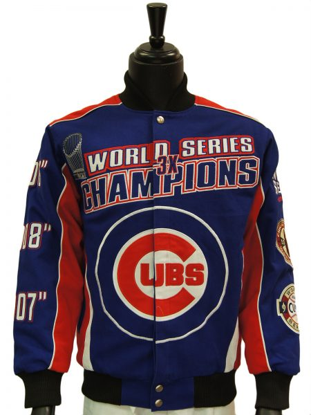 Officially Licensed Major League Baseball Chicago Cubs World Series Wool Jacket