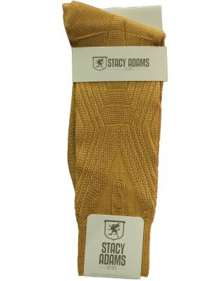 Stacy Adams Logo Camel Caramel Thin Dress Sock
