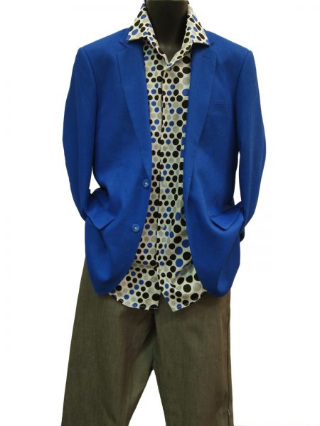 Afazzy Cobalt Blue Two Button Lightweight Linen Summer Blazer Jacket