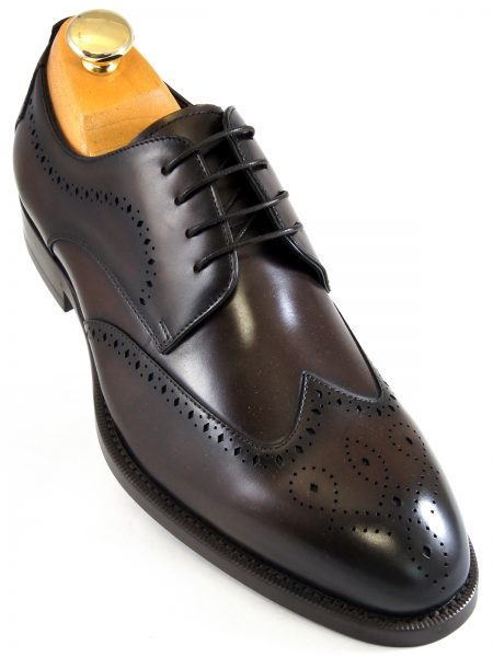 Steve Madden Mens Chocolate Brown Wing Tip Dress Casual Oxford Lace Up Shoe