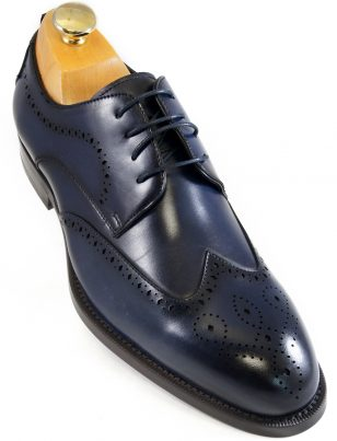 Steve Madden Mens Navy Blue Wing Tip Dress Casual Oxford Lace Up Shoe