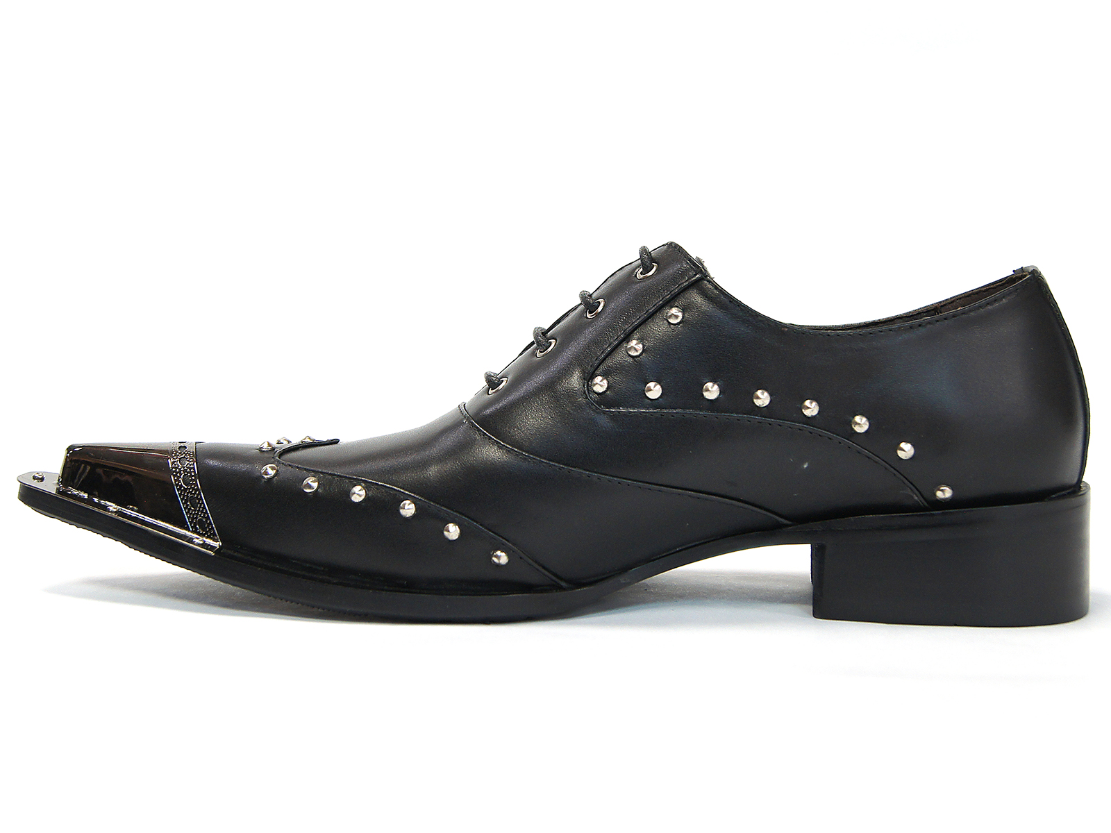 Mens Silver Tipped Dress Shoes