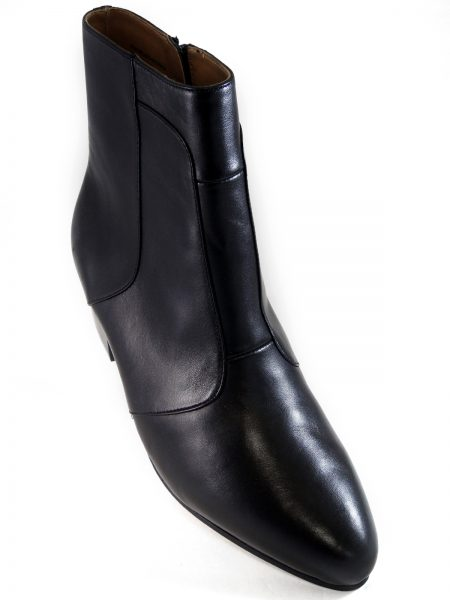 Mens Giorgio Brutini Navy Blue Leather Cuban Heel Zip Up Fashion Ankle Boot