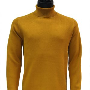 Prestige Mens Gold Luxurious Soft Touch Turtle Neck Dress Casual Sweater