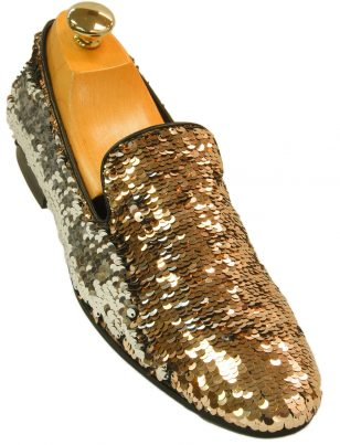 Mens Giorgio Brutini Pink Silver Flip Sequin Party Trendy Prom Slip On Loafer Shoe