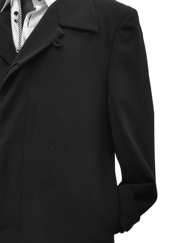 Carmel Zhao Mens Dress Trench Black Top Coat