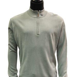 Stacy Adams Grey Lightweight Mens Half Zip Mock Neck Pullover Sweater