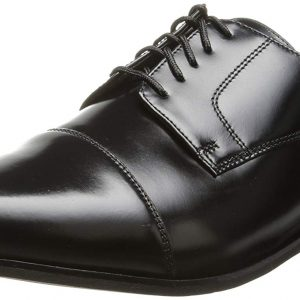 Florsheim Men's Broxton Cap Toe Lace Up Oxford Dress Shoe (Black) (3E)