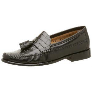 Florsheim Men's Pisa Tassel Loafer (Black) (B)