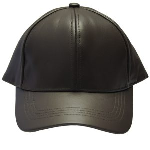 Brown Genuine Full Leather Adjustable Trendy Casual 6 Panel Baseball Style Cap