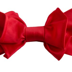 Mens Unisex Candy Red Pre Tied Adjustable Big Knot Formal Dress Fun Bow Tie
